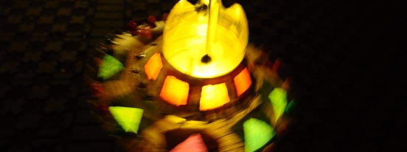 Es ist eine Laterne die leuchtet. ©Kita Sehlwiese